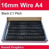16mm Twin Loop Wire Black