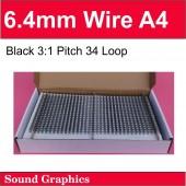 6.4mm twin loop wire Black