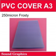 250micron A3 PVC Cover Pack of 100 - Frosty
