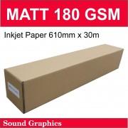 180GSM MATT Paper 610mm x 30m