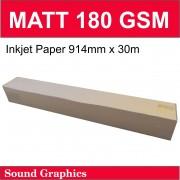 180GSM MATT Paper 914mm x 30m