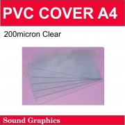 200micron PVC Cover A4 Pack of 100 - Clear